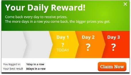 pocketdice.io daily bonus