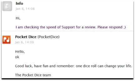 pocketdice.io support